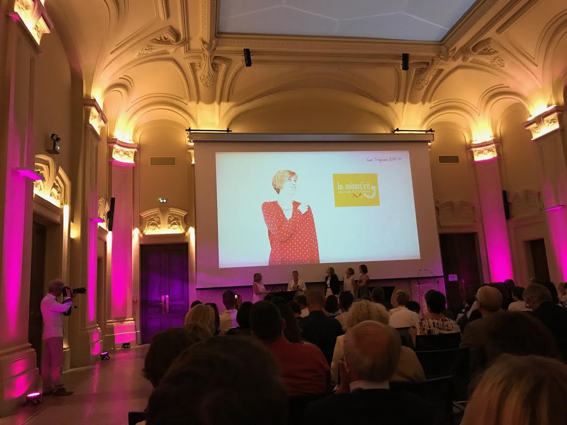 Séverine Cromer, franchisée La Minut'Rit de Meurthe-et-Moselle, présentée aux Trophées Entreprenariat au Féminin !