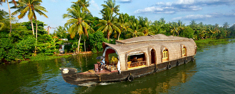 Les backwaters du Kerala.  en Inde