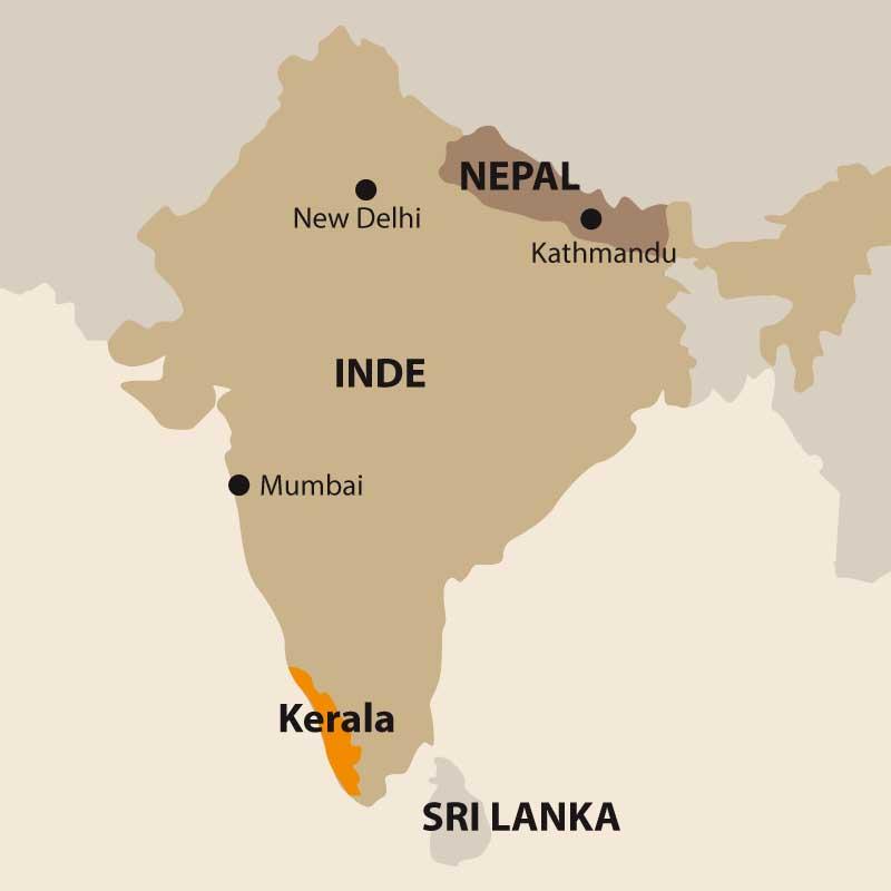 Région du Kerala Inde